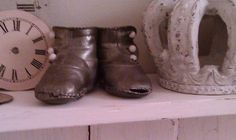 Vintage Bronzed Baby Shoes