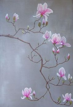 Magnolia. Acrylic on canvas by Rob Cosby