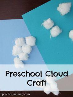 Preschool Cloud Craft