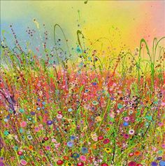 floral-inspired paintings by artist Yvonne Coomber Yvonne-Coomber-Wild-Thing-PaintingYvonne-Coomber-Wild-Thing-Painting Art And Illustration, Painting Prints, Watercolor Paintings, Art Paintings, Contemporary Artwork, Art Graphique, Flower Pictures, Love Art, Painting Inspiration