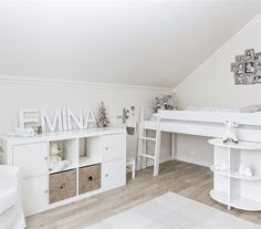White kid's room | Hilde's home, Norway