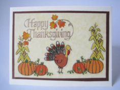 Happy Thanksgiving Day cards- Give Thanks- One of A Kind- The gobblest cards you've seen!!