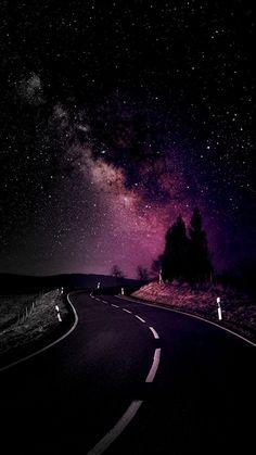#wallpaper #iphone #phone #night #way #stars #wallpaperforphone