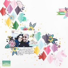 Scrapbooking using Rainbow Diamonds & Fun Stickers from the Glitter Girl Collection by Shimelle and American Crafts. @abstractinspiration @americancrafts #americancrafts #shimelle #scrapbook #scrapbooking #stickers #abstractinspiration #ziniaamoiridou