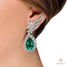 Alaghband. Royal Emerald Earrings.