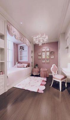 Small Room Design Bedroom, Small House Interior Design, Kids Bedroom Designs, Bedroom Furniture Design, Kids Room Design, Room Ideas Bedroom, Home Room Design, Bed For Girls Room, Bedroom Decor For Teen Girls