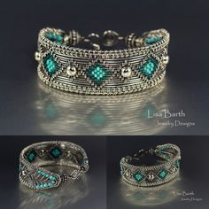 Hand woven bracelet with a design from my new book, Timeless Wire ...