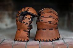 Leather&metall gauntlets by IronWoodsShop on Etsy