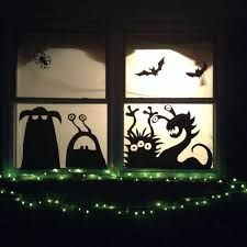 Halloween window silhouettes ghost google search for Decoration fenetre halloween