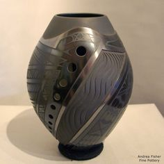 """Virginia and salvador baca, andrea fisher fine pottery, $1100, 8.25""""h"""