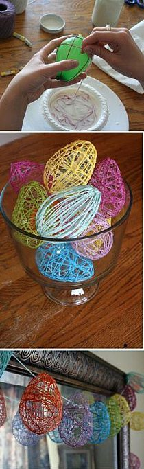 Make an Easter Egg Garland from balloons! Make an Easter Egg Garland from balloons! Crafts To Do, Crafts For Kids, Arts And Crafts, Kids Diy, Twig Crafts, Decor Crafts, Spring Crafts, Holiday Crafts, Holiday Decor