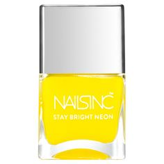 nails inc. Golden Lane Nail Polish - Neon Yellow 14ml found on Polyvore featuring beauty products, nail care and nail polish