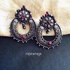Rajatamaya silver eyering www.shopzters.com