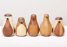 """""""I used to be a chair and the leg of a table"""" – Beautiful birds made of recycled wood, designed by Lars Beller Fjetland. Norway."""