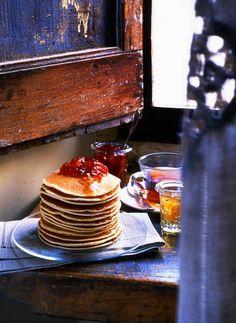Colazione in camera #pancake #ricette #food