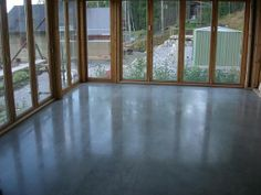 Diamantslipat betonggolv
