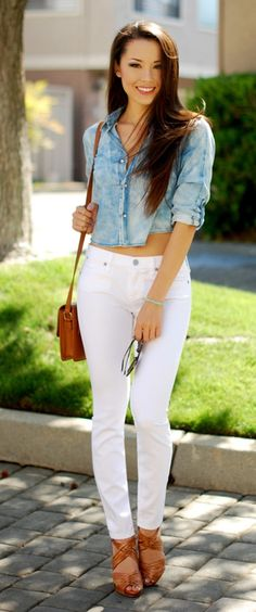 835be9e2e4c 30 Ways to Style your White Jeans at Work