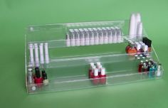 Economy Tiered Trays are ideal for organising and storing cosmetics and perfumes. Tiered Trays will provide a great home for lipstick, nail varnish, eyeliner and pump atomisers.