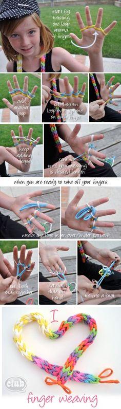 Finger Weaving!