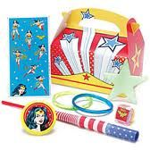 Trying to find Wonder Woman birthday supplies for my son who wants a