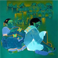 Ida Raimondi - Google+Tailor Srinivas-Indian/Acrilic art