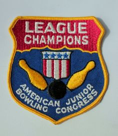 Vintage Bowling League Champions Patch (Large)