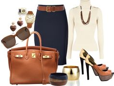 """Work Outfit... Chic"" by ccroquer on Polyvore"