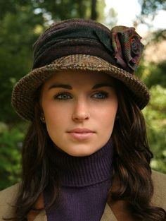 Wouldn't this be Fun to create from an old coat. #millinery #judithm #upcycle