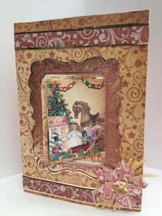 All Pink Girl: July 2012. Kanban All Wrapped Up Christmas paper craft collection - foiled & die cut toppers with co-ordinating card.