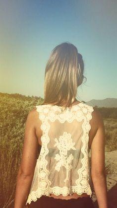 Beautiful Boho Rose Embroidered Vest