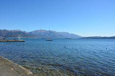 Landscape showing sea at Baosici in bay of Kotor
