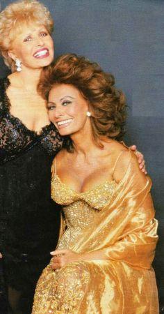 Sophia Loren and her sister both wearing Nolan Miller