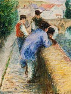 Camille Pissarro - Angler