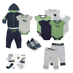 Yoga Sprout Baby Boys' 17 Piece Gift Set - Bear