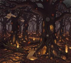 If i were a cartoon id have 10 brothers and sisters and i would have the top room of this tree =)
