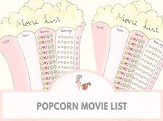 Popcorn Movie List | www.sweetestchelle.com Movie List, Popcorn, Words, Blog, Movies, Films, Air Popped Popcorn, Film Books, Movie