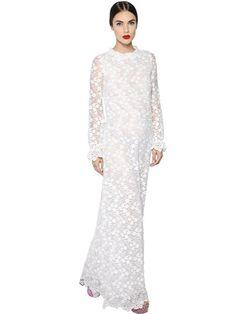 GIAMBA - FLOWER LACE & TULLE DRESS - Lvestido de renda , vestido de festa renda, lace gown, long sleeve lace dress, vestido de festa manga longa