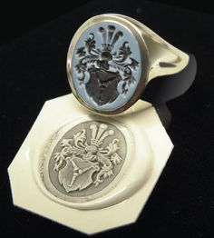 Engraved Gemstone Rings