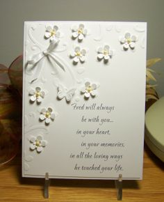 Love the little paper flowers with their little petals bent upward ... the possibilities are endless with this technique!