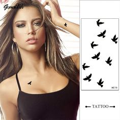 Design Fashion Temporary Tattoo Stickers Flying Birds Temporary Body Art Waterproof Tattoo Pattern