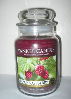 Yankee Candle Black Raspberry  22 oz Large House Warmer Jar Retired New #YankeeCandle
