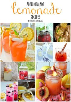 I love fun, fresh drinks in the summer. There's something so picturesque about sitting on the patio or deck with a book and a cold drink. It screams summer, doesn't it? I recently shared a collection of iced tea recipes and iced coffee recipes and today I'm sharing 20 homemade lemonade recipes to keep you …