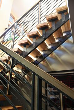 Metal and Wood Stair