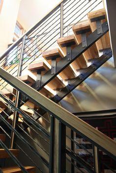 Metal and Wood Stair