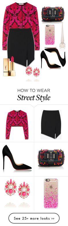 """Street Style"" by sabzaliyeva on Polyvore featuring Mary Katrantzou, Yves Saint Laurent, Christian Louboutin, SHOUROUK and Casetify"