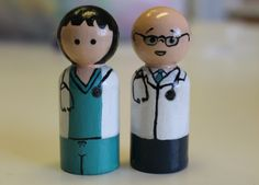 Doctor and Nurse Peg Dolls