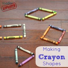 Toddler Approved!: Making Crayon Shapes- Back to School Basics. Simple and totally fun. Do you have any other simple favorite crayon or shape activities?