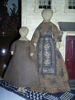 Dollhouse Dolls (made using a purchased Schneeman pattern) by Julie of My Primitive Heart!  Love these sweet dolls!