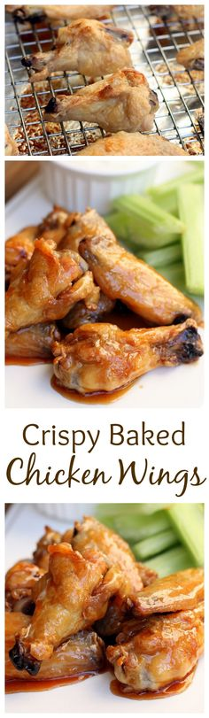These Crispy Baked Chicken Wings are SO EASY and perfect for Game Day! Recipe on http://tastesbetterfromscratch.com