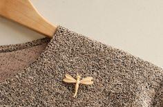 Beige dragonfly brooch!